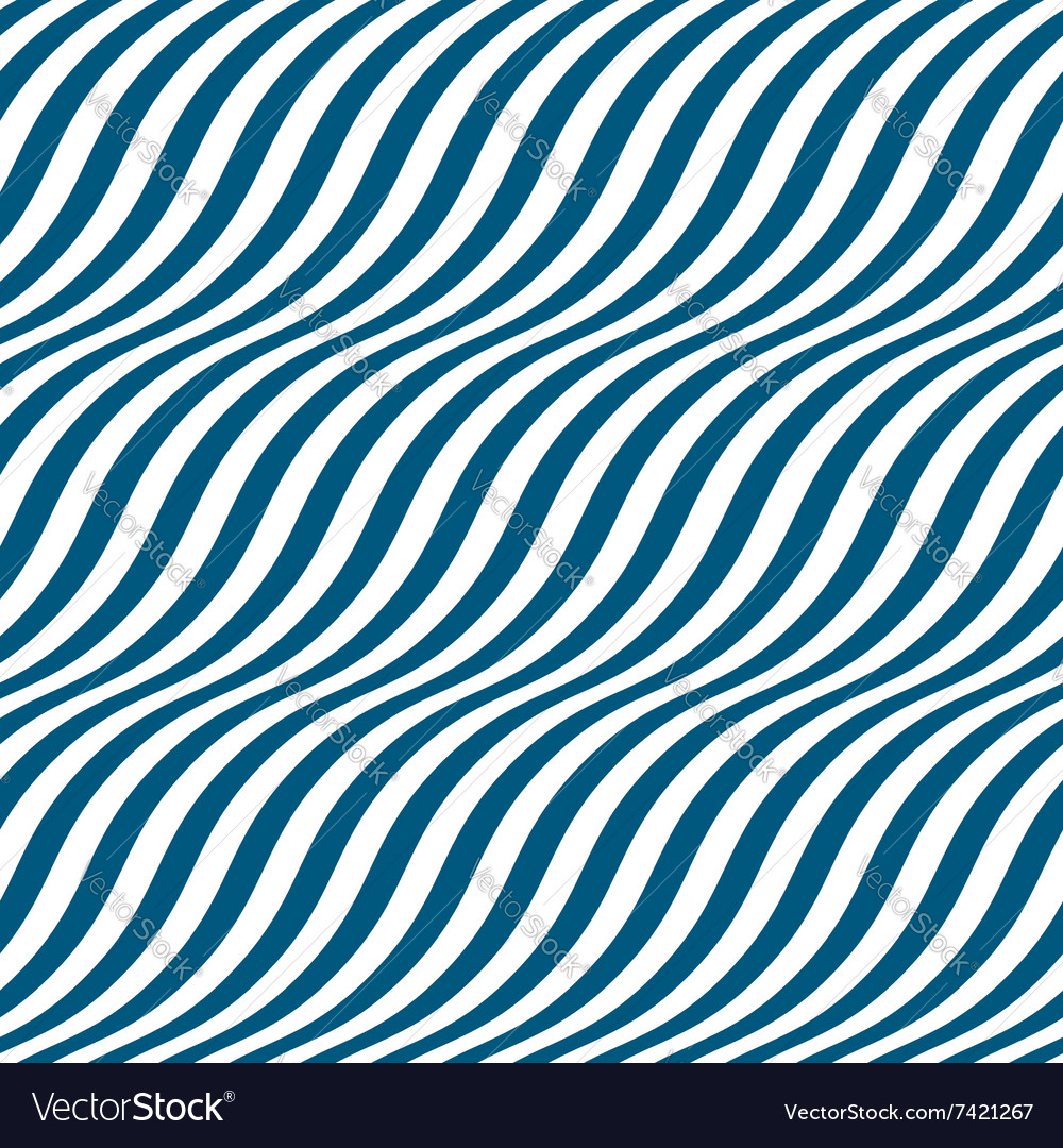 Wavy stripes seamless pattern vector
