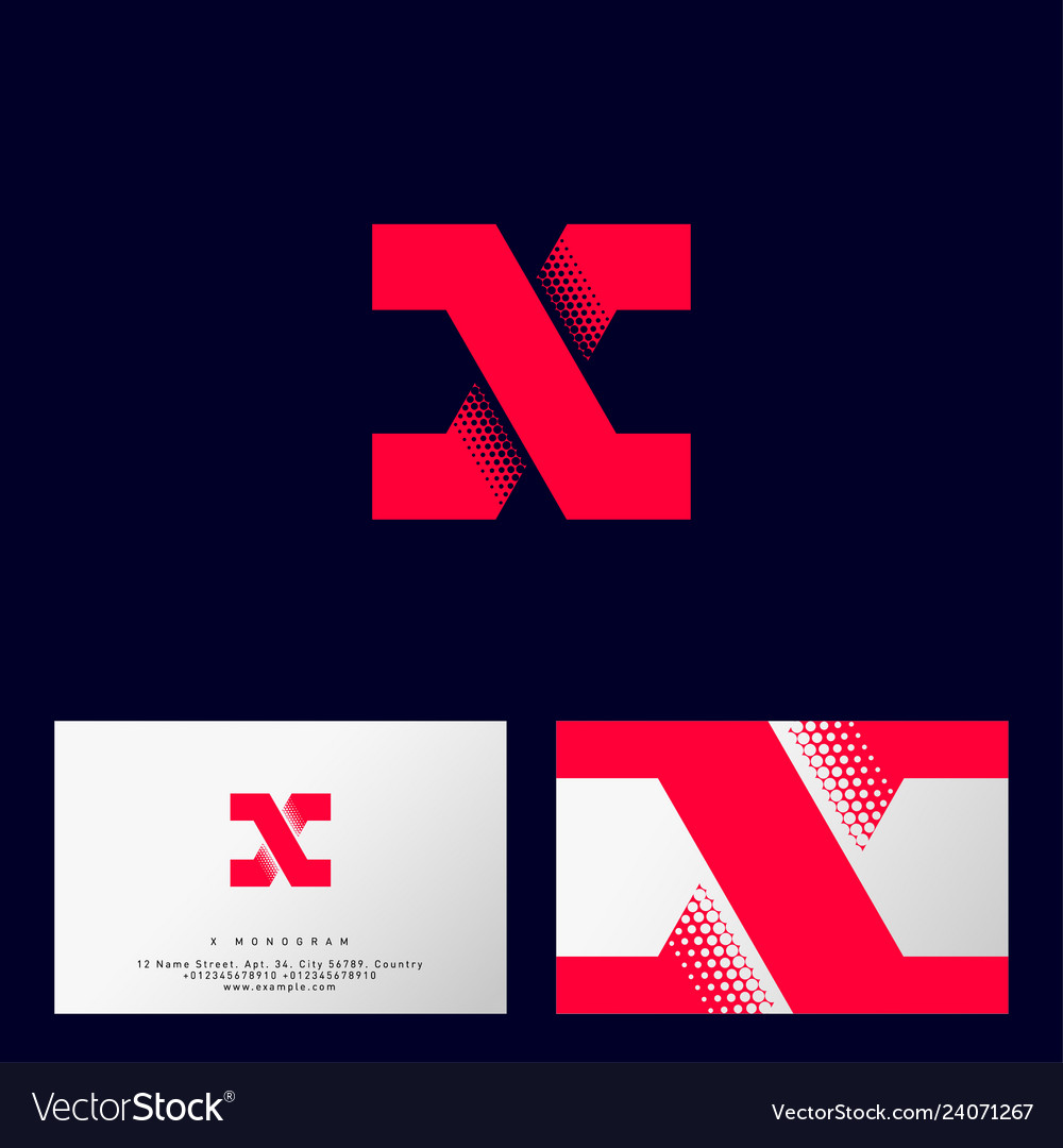 X letter monogram logo or icon design web