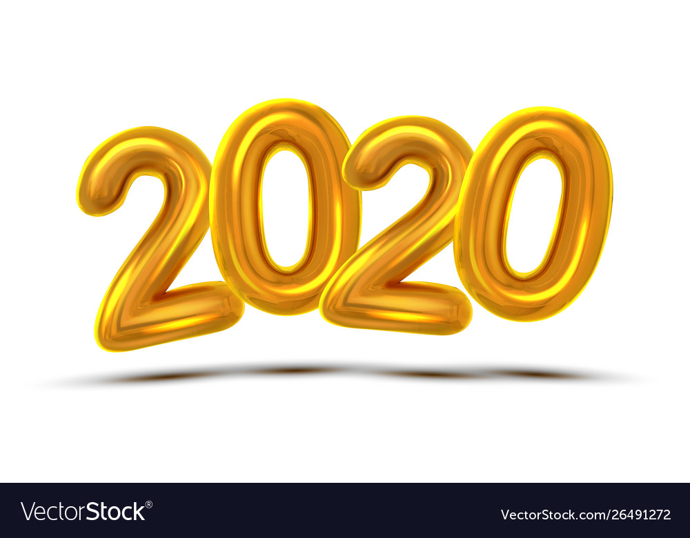 2020 number new year celebration banner