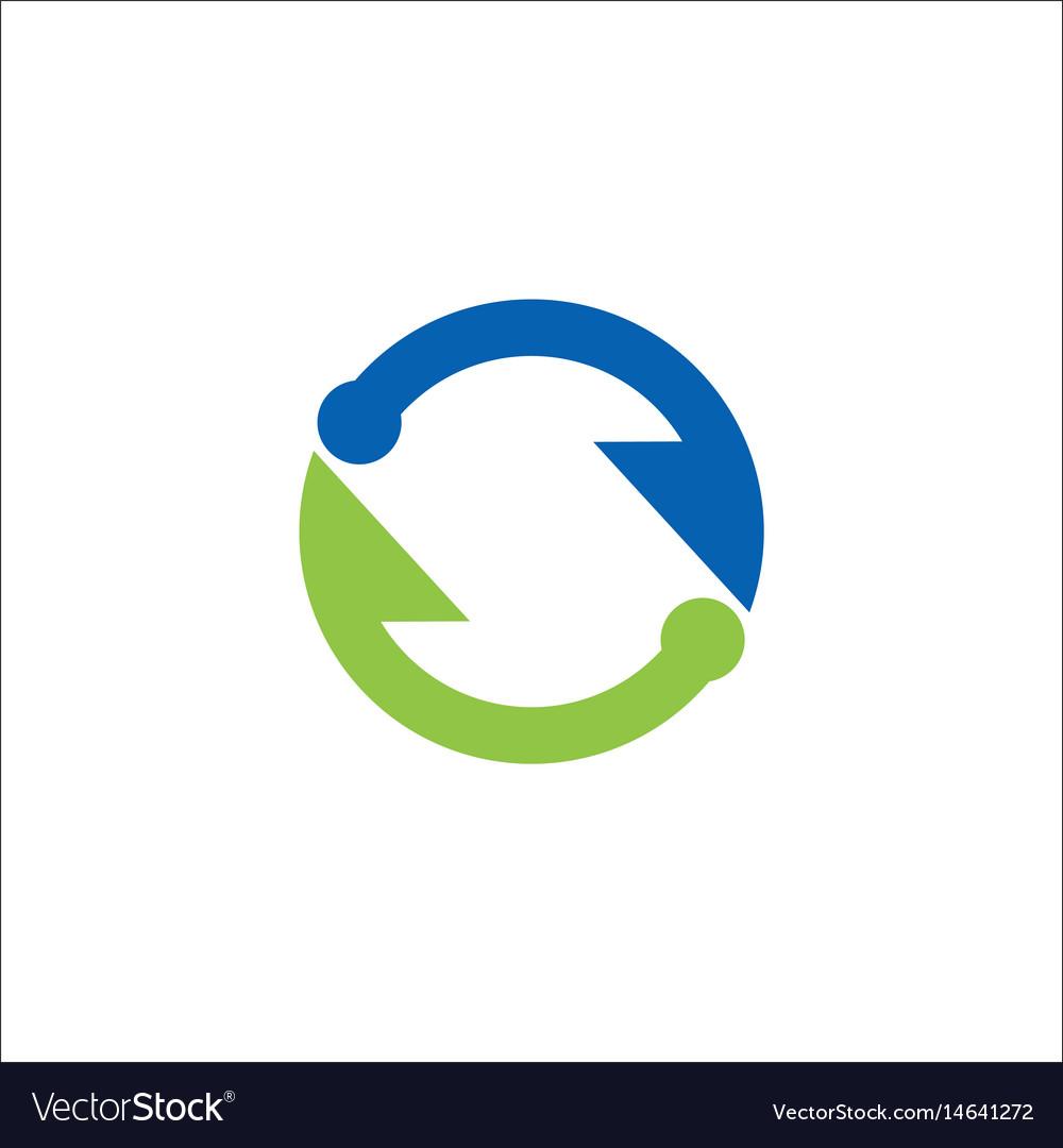 Circle arrow infinity logo