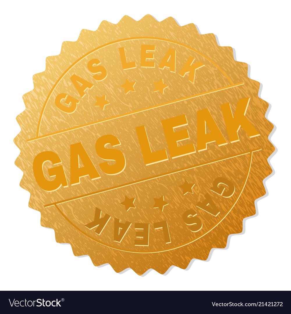 Gold gas leak award stamp