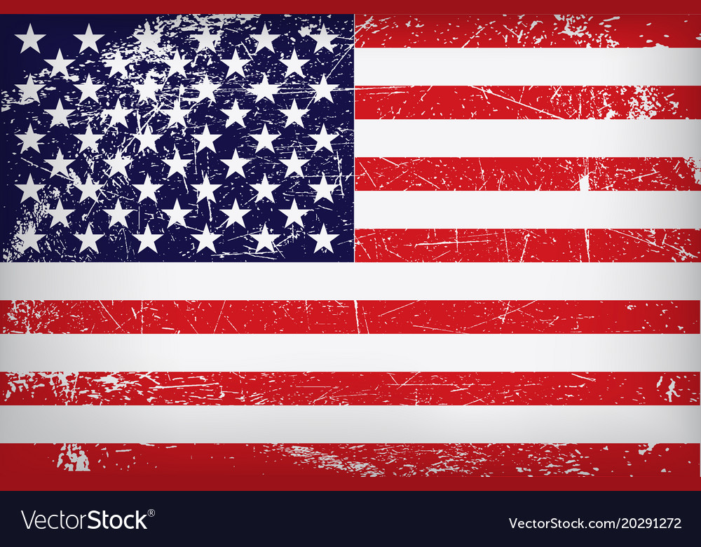Grunge flag united states america