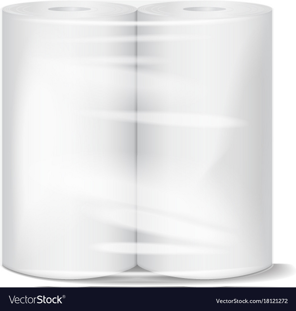 Charmant Kitchen Paper Towel Package Mockup With Vector Image