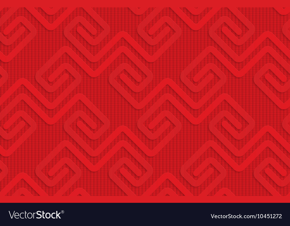Red square fastening spirals on checkered vector image