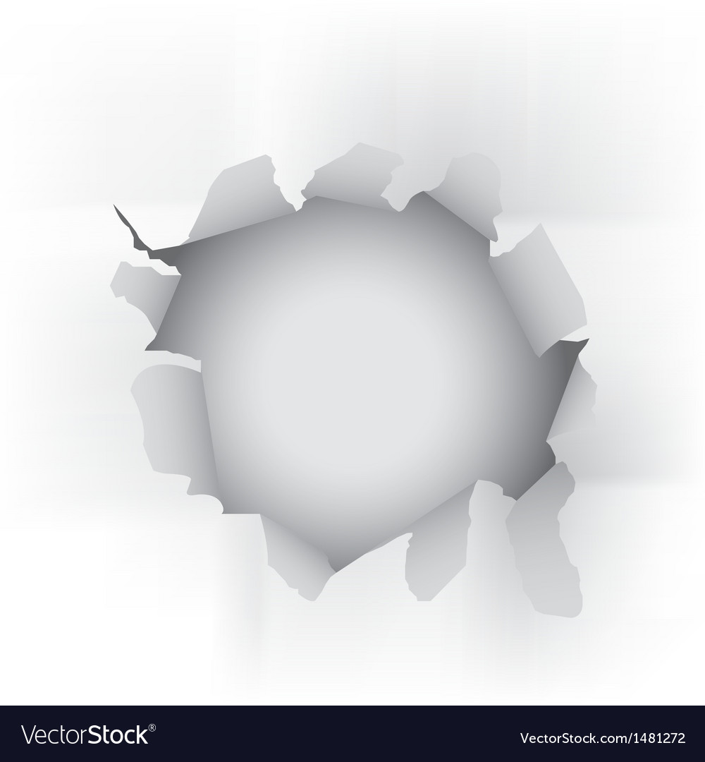 White torn paper vector image