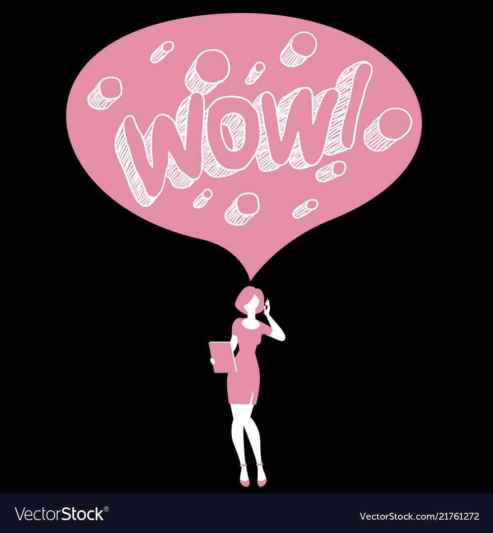 Wow female speech bubble