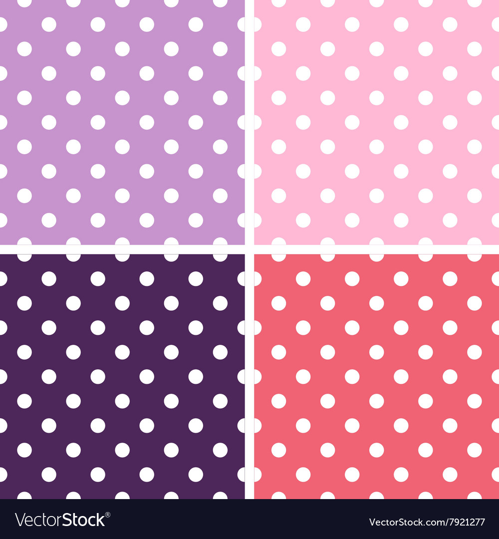 Beautiful colorful dotted background textures set