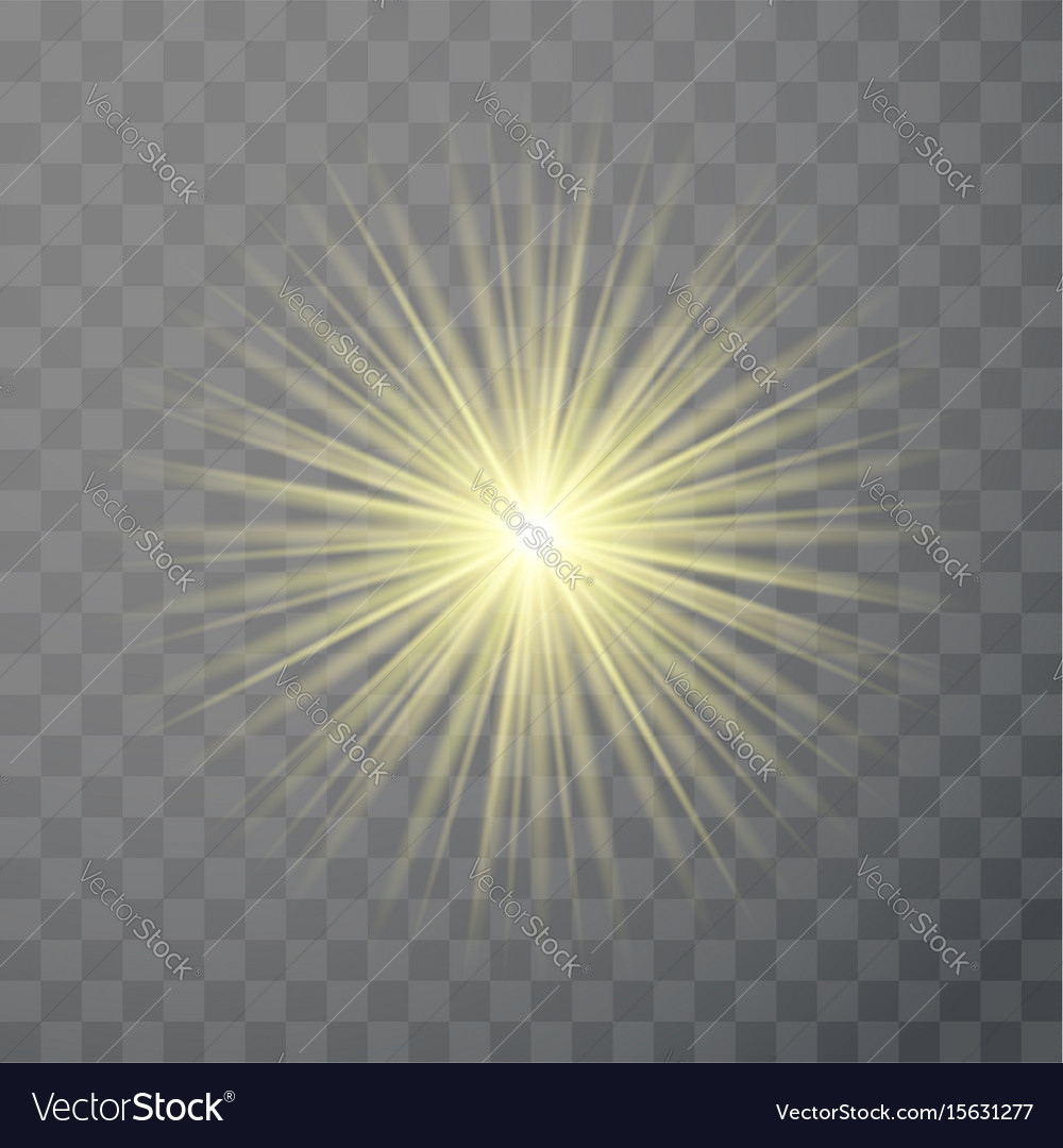 Bright light flare flash effect template isolated vector image