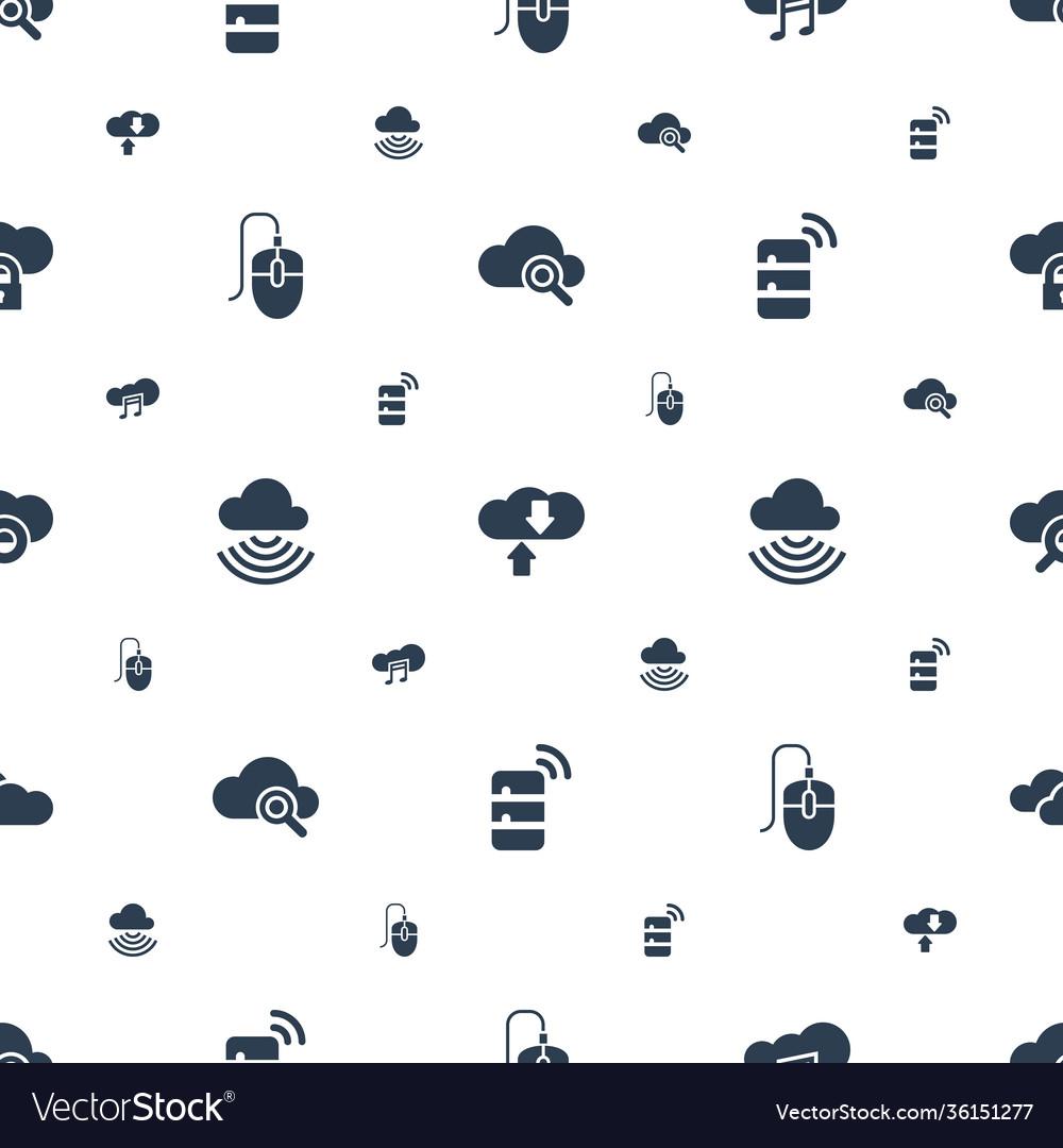 Computing icons pattern seamless white background