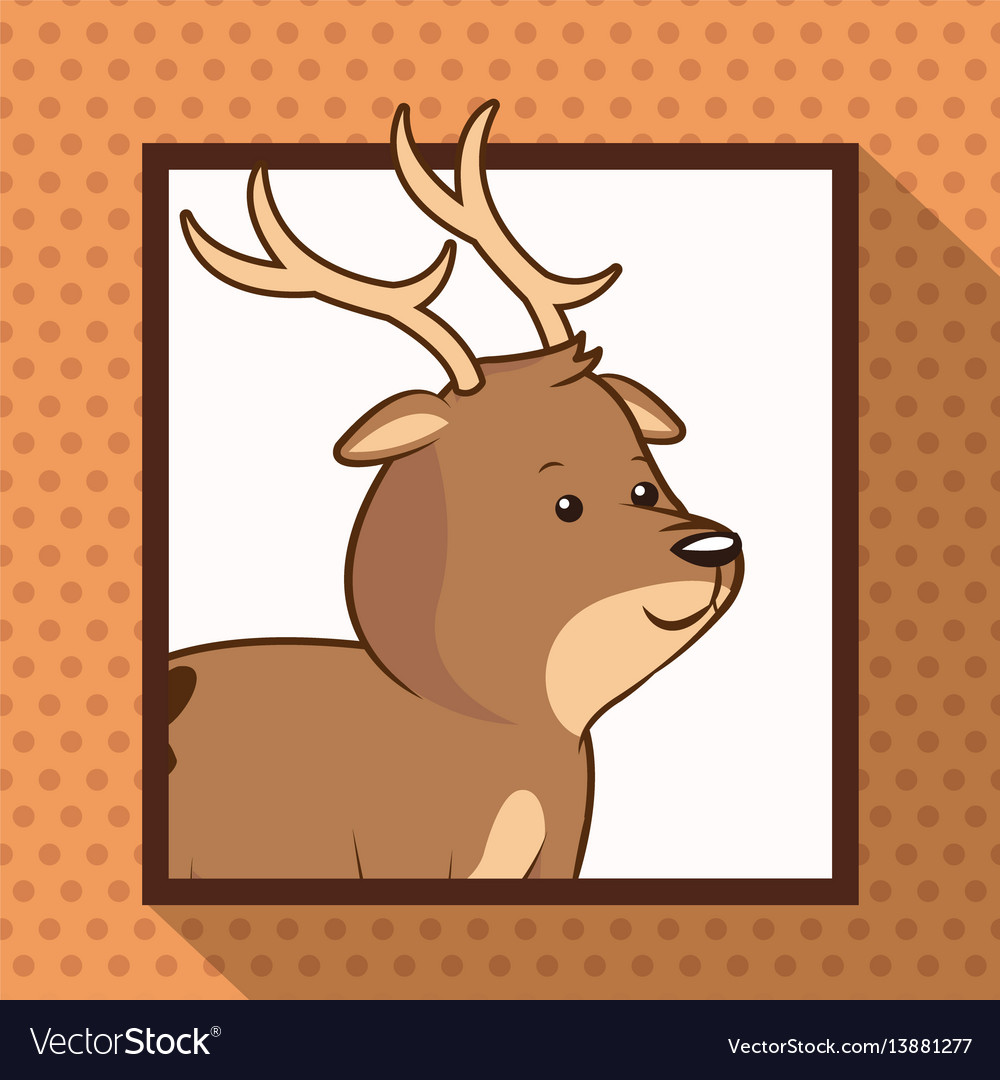 Cute deer frame picture