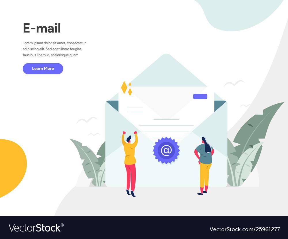 Email concept modern flat design concept web