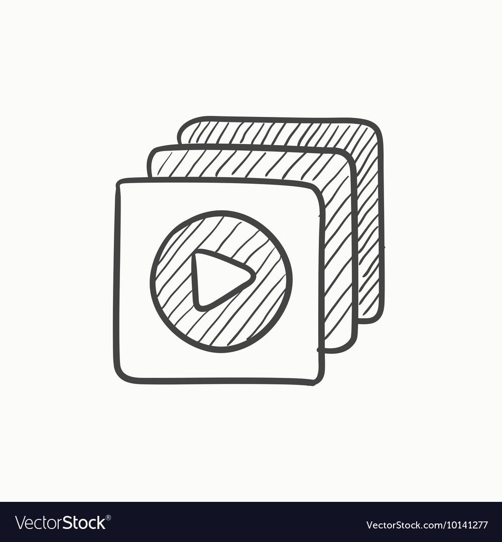 Media player sketch icon
