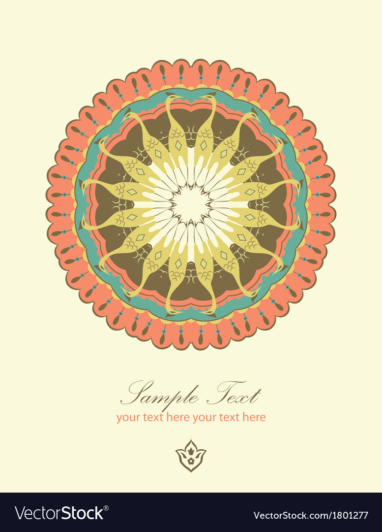 Round abstract ornament vector image