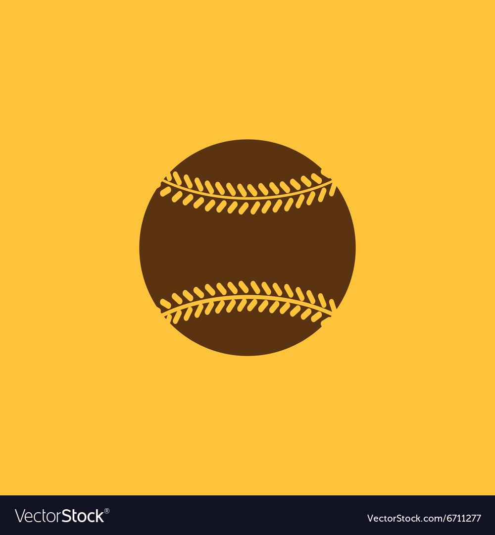 The baseball icon Game symbol Flat