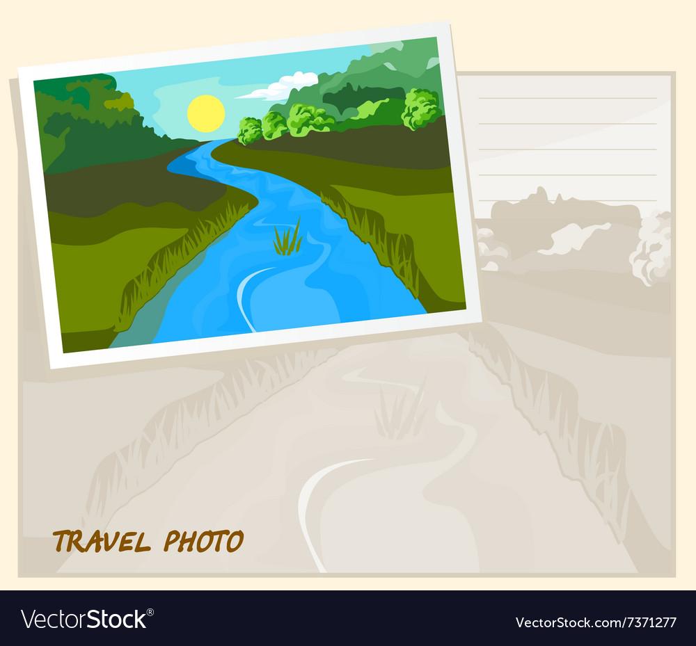 Travel photo template