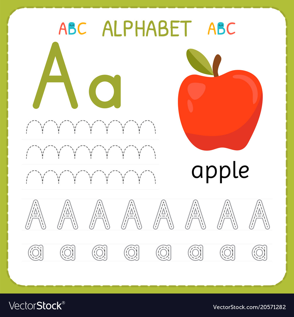 alphabet and picture tracing worksheets pdf
