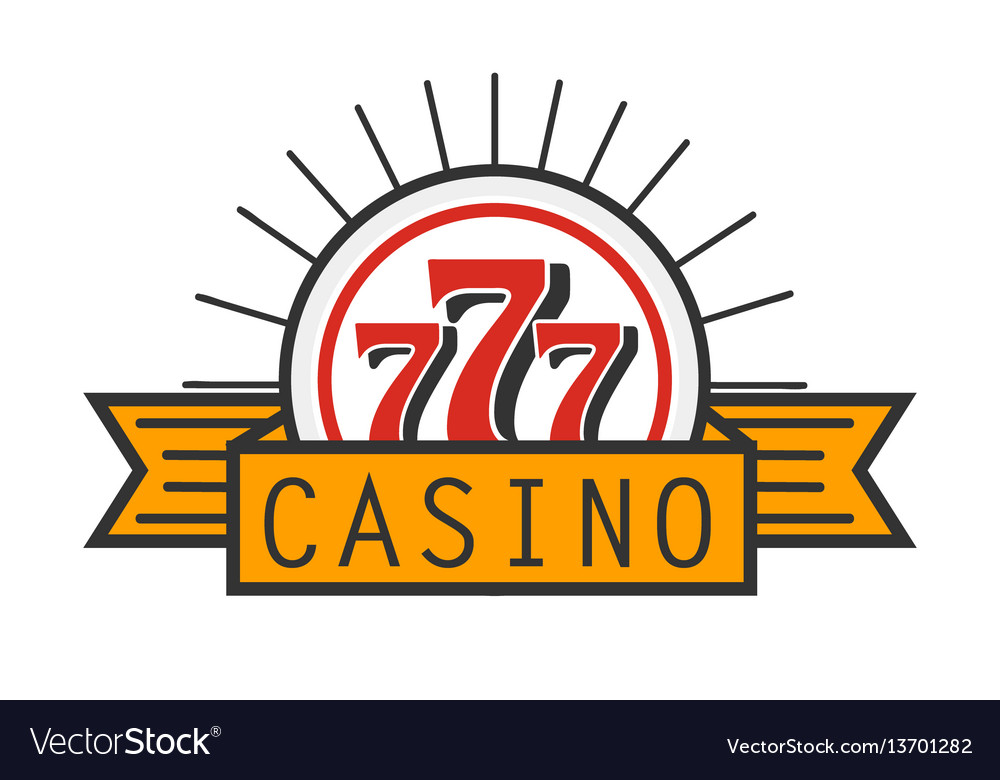 Casino 777 advertising banner isolated on white
