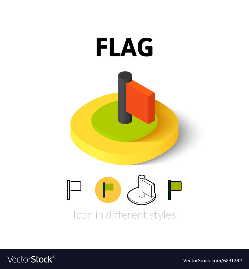 Flag icon in different style