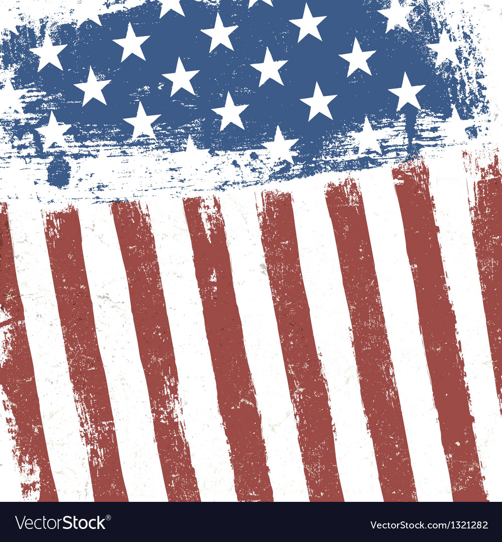 grunge american flag background royalty free vector image