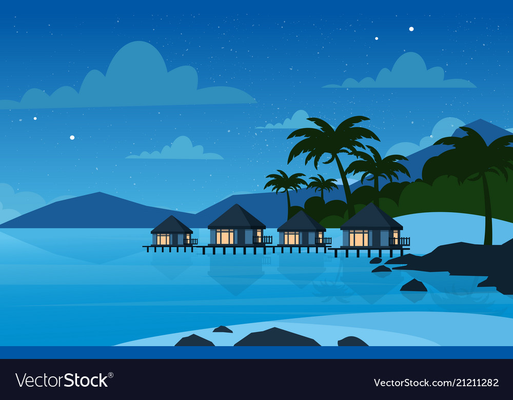 Hotel on tropical beach