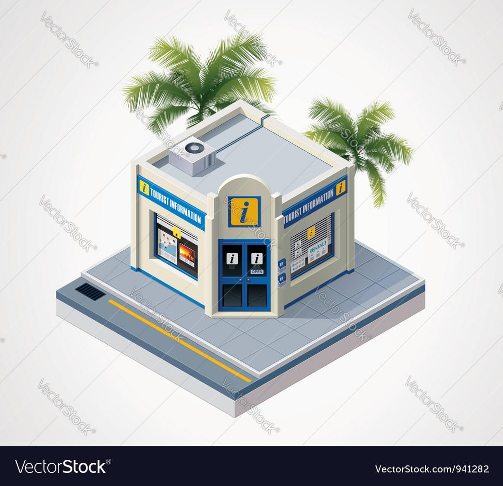 Isometric tourist information center vector image
