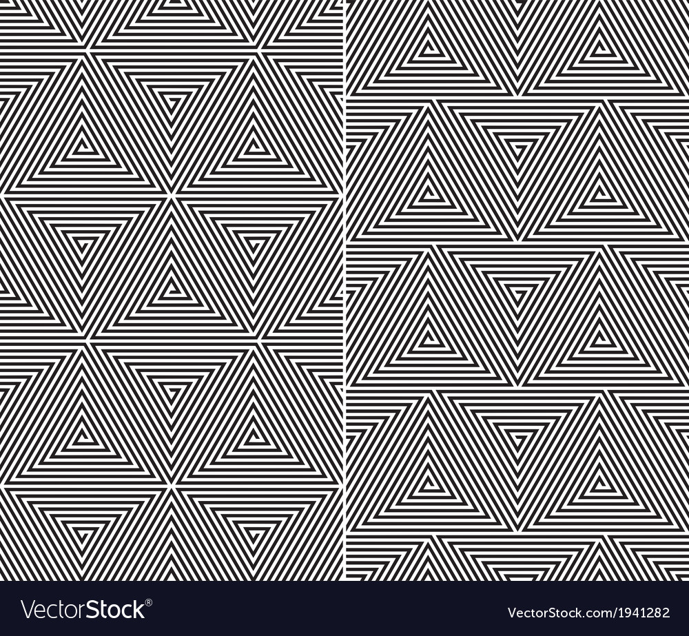 Triangle Elements Pattern vector image
