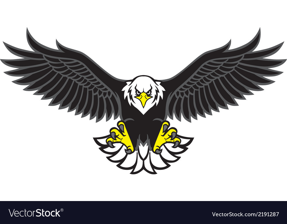 eagle mascot spread the wings royalty free vector image vectorstock