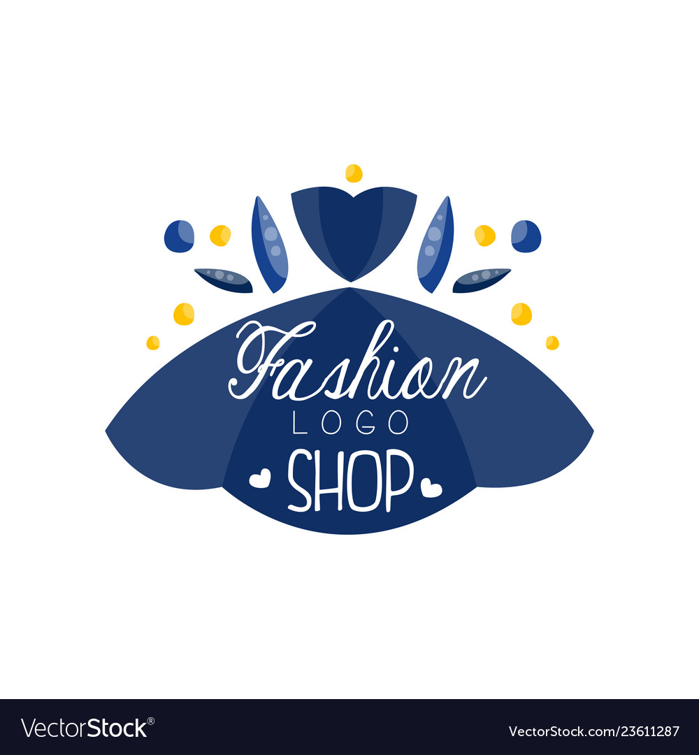 Fashion Shop Logo Design Clothes Boutique Beauty Vector Image