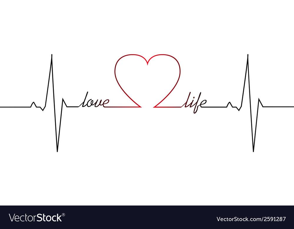 Love Life Heart Beat Royalty Free Vector Image