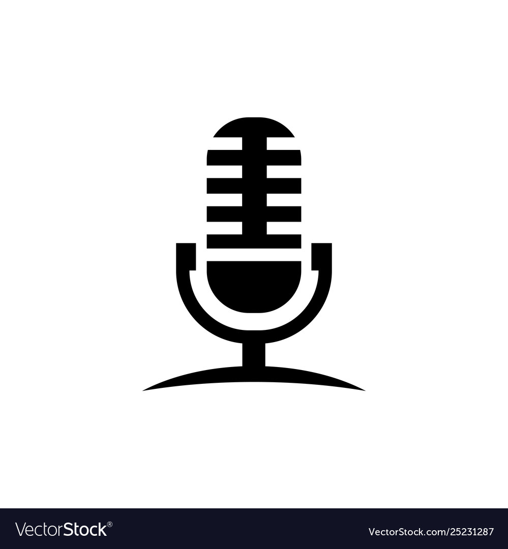 Microphone icon in flat style for app ui websites