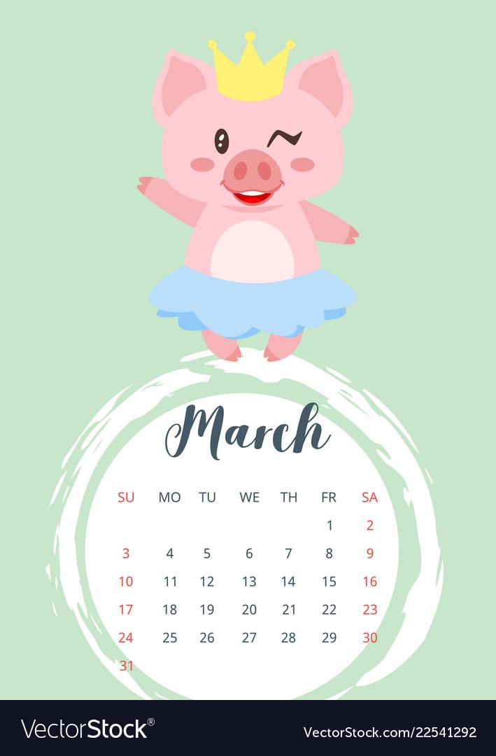 2019 year calendar page