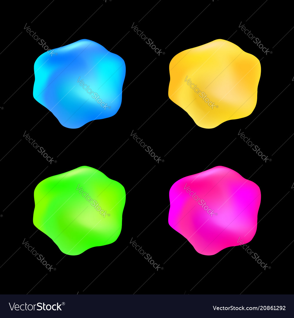 Abstract glossy formless jelly color ice isolated