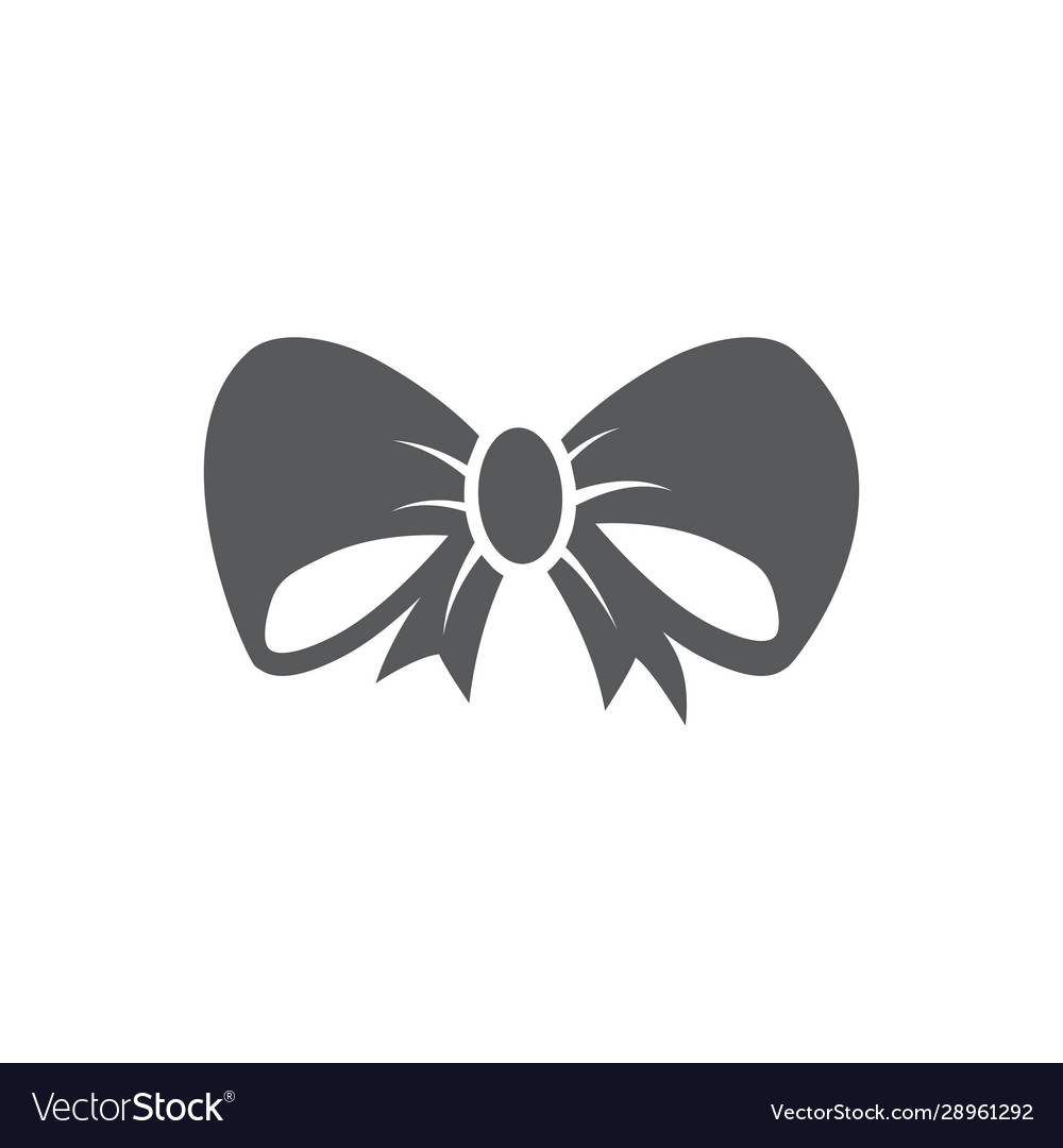 Bow icon on white background