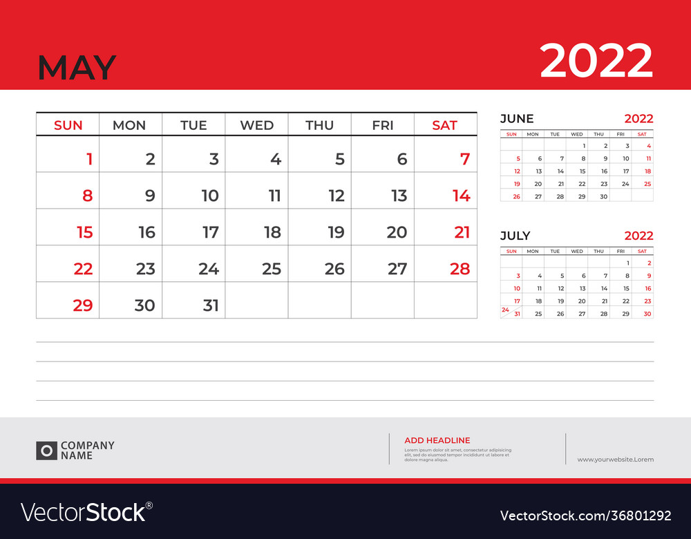 May 2022 Calendar Wallpaper.Desk Calendar 2022 Design May 2022 Royalty Free Vector