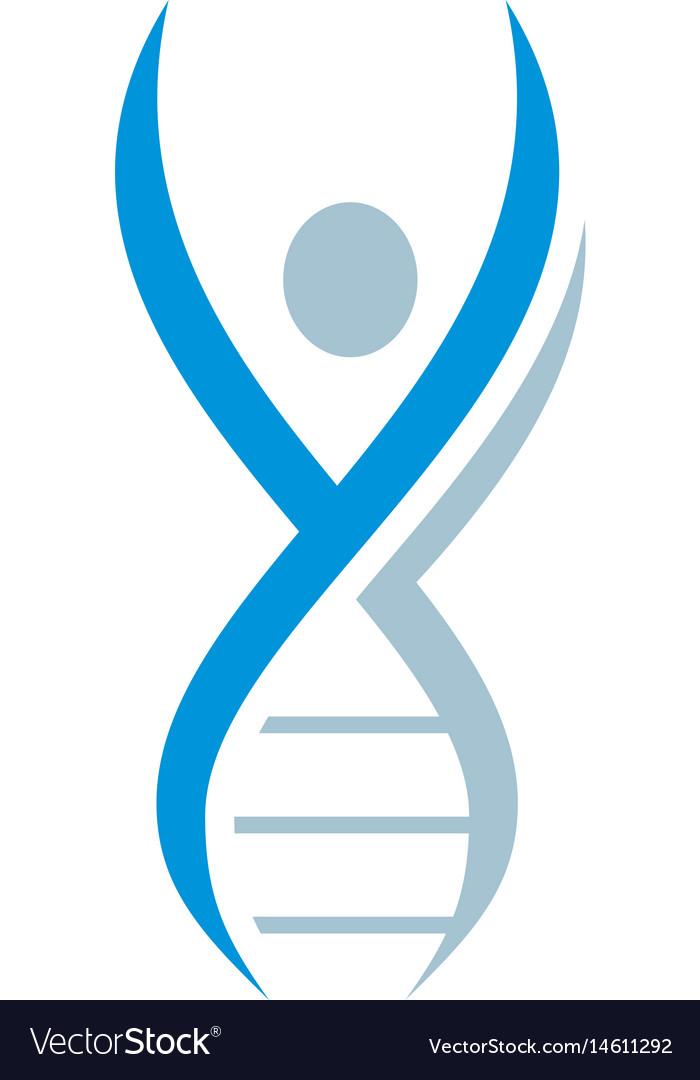 Dna icon logo image vector image