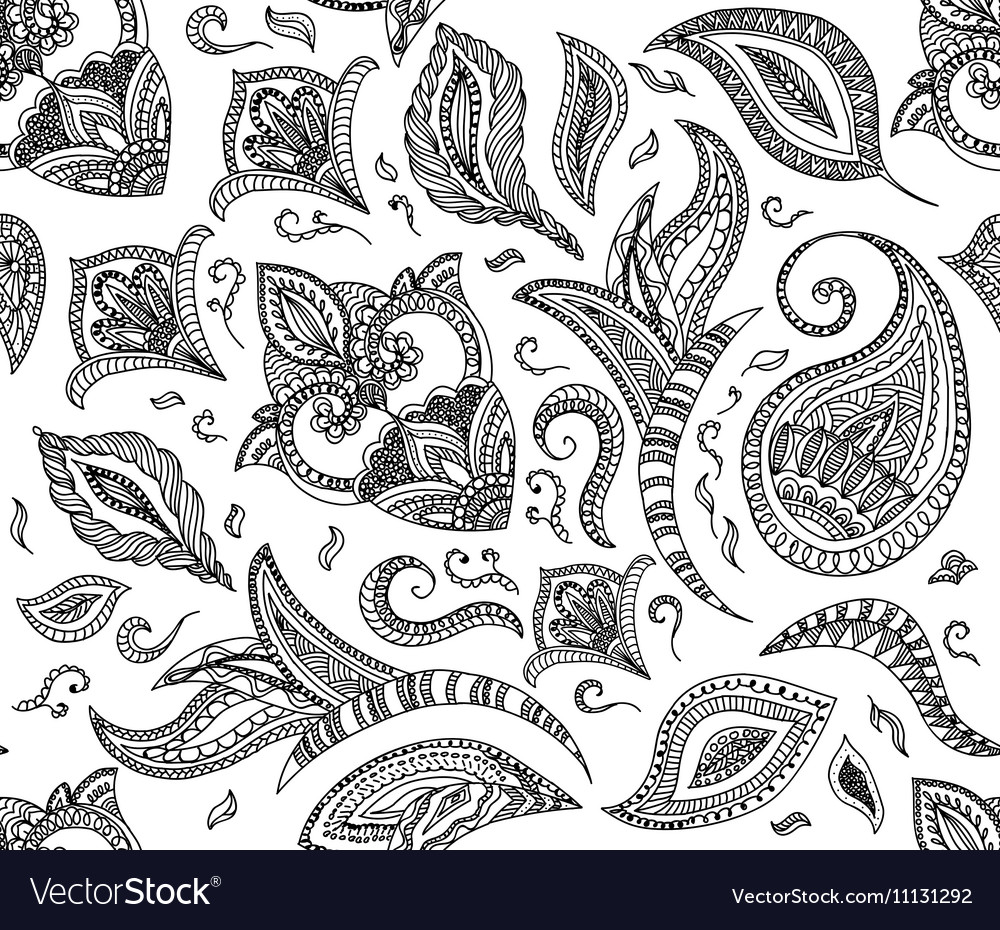 Seamless floral retro background pattern in