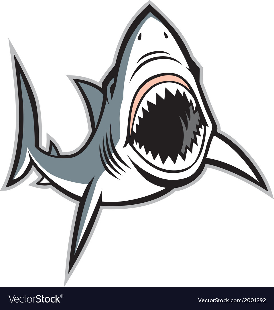 Shark With Opened Mouth Royalty Free Vector Image