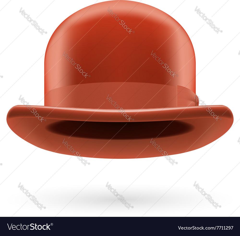 Brown bowler hat vector image
