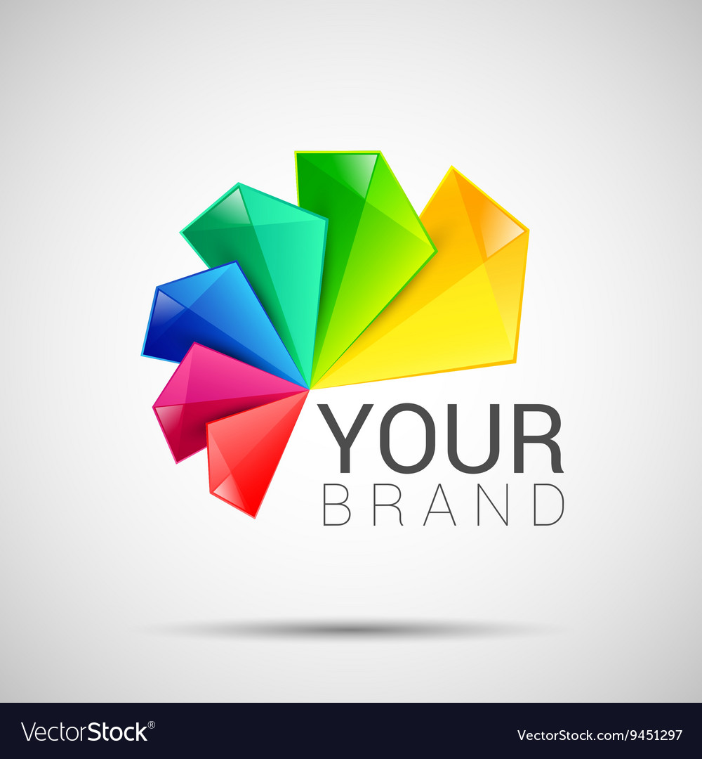 Business Abstract colorful logo on white