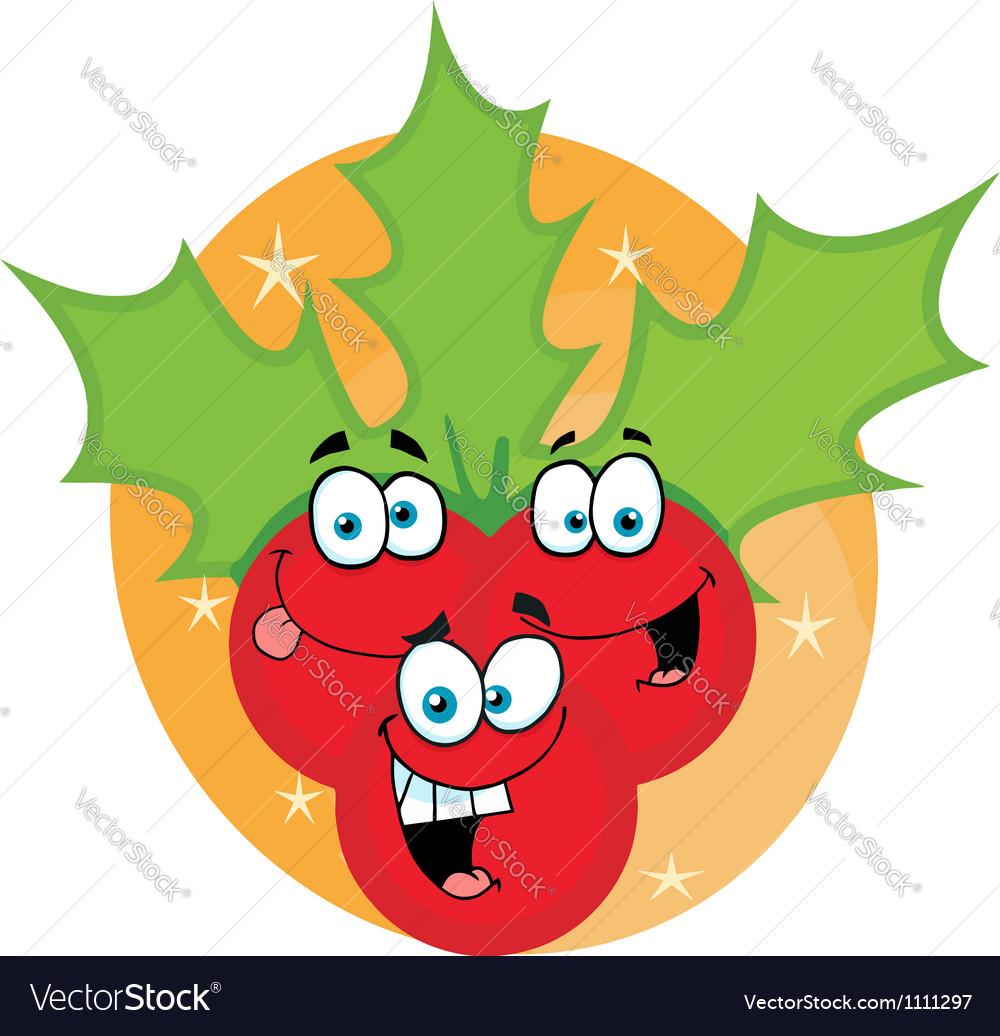 Christmas Holly Cartoon Characters