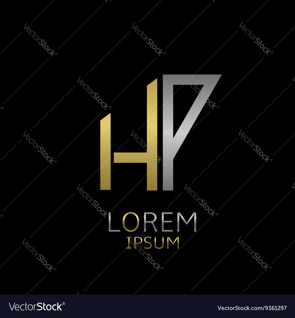 HP letters logo vector image