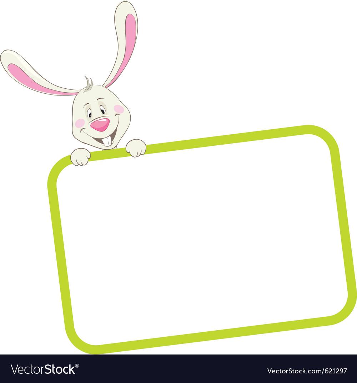 Label frame rabbit