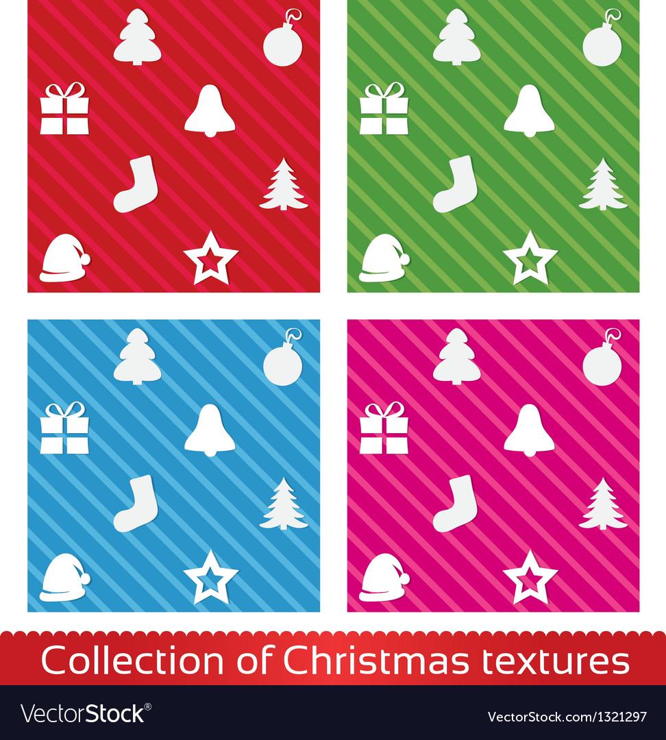 Seamless christmas texture pattern set