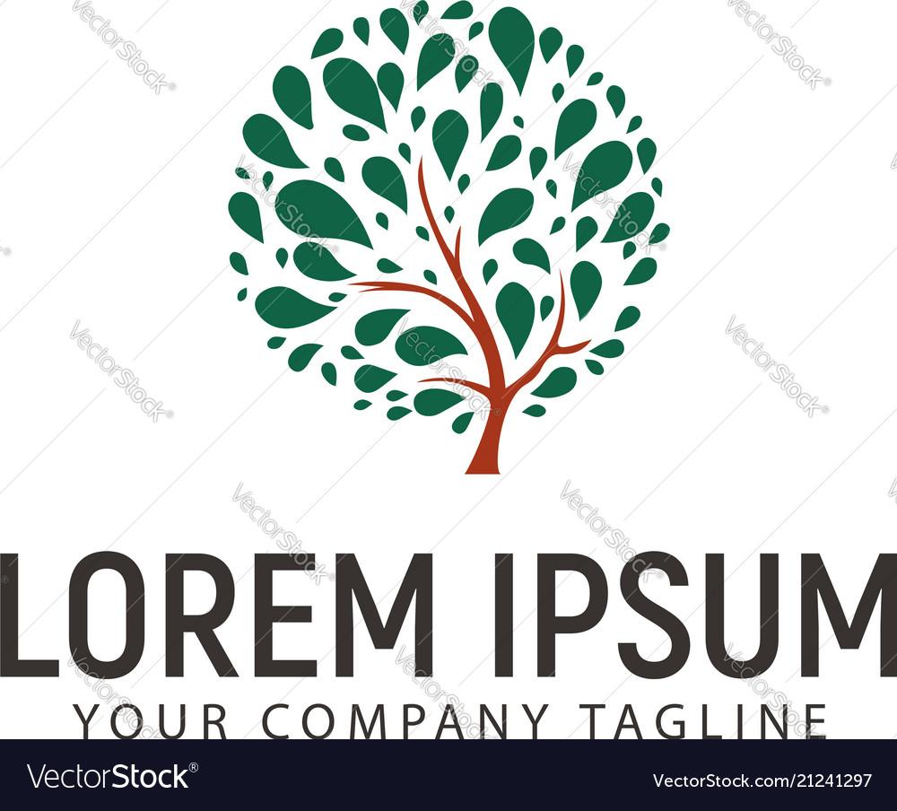 Splash tree logo design concept template