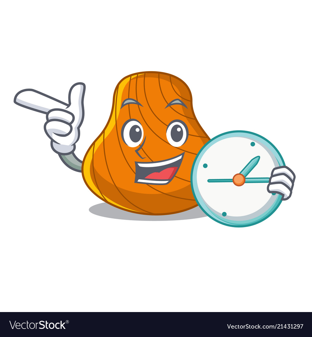 With clock hard shell character cartoon