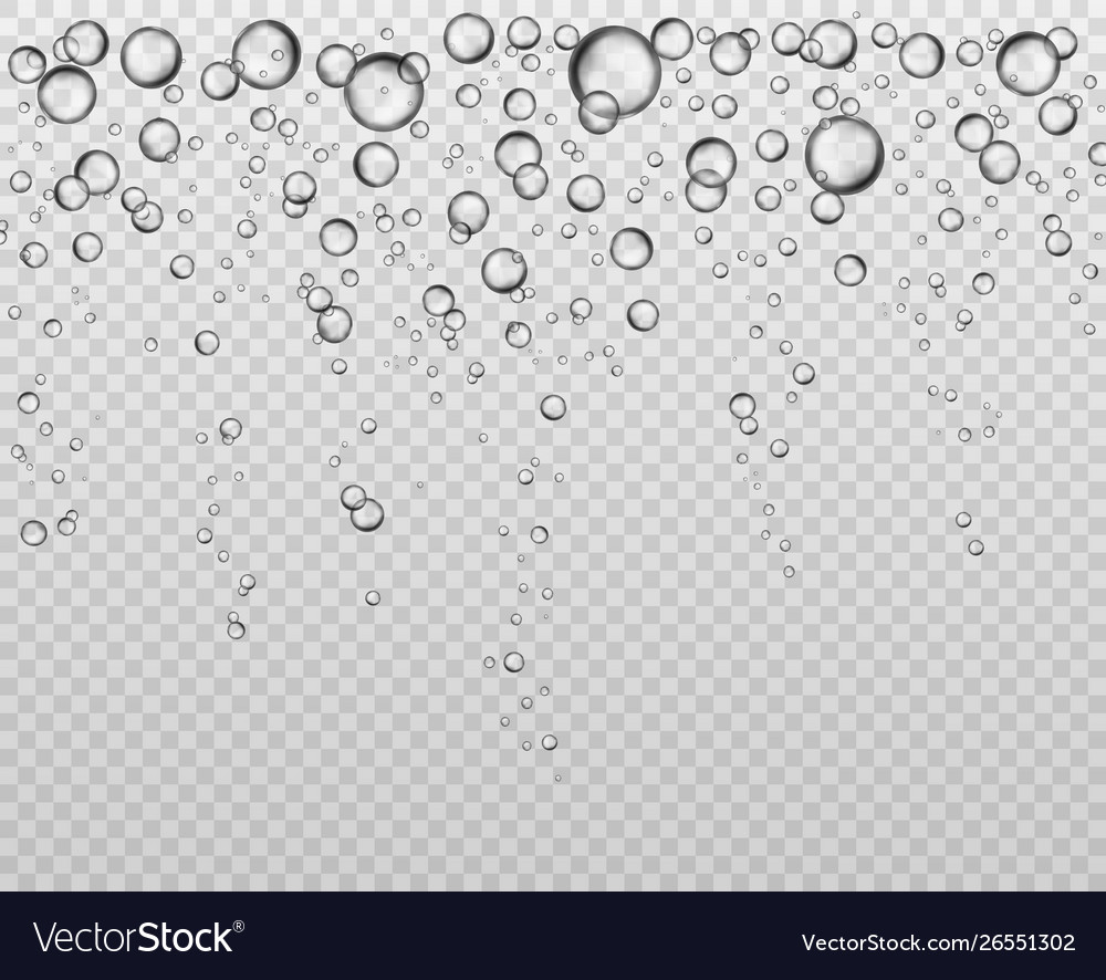 Bubbles at water surface fizzy underwater texture