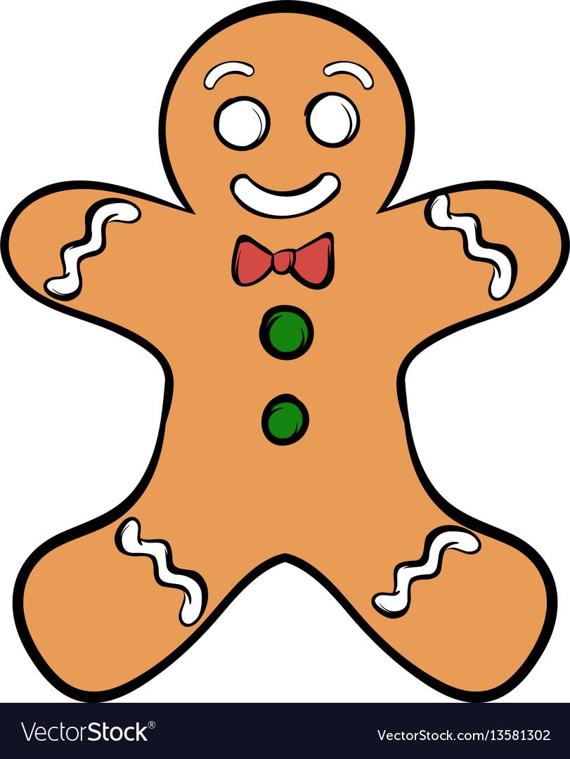 Cookie man icon cartoon vector image