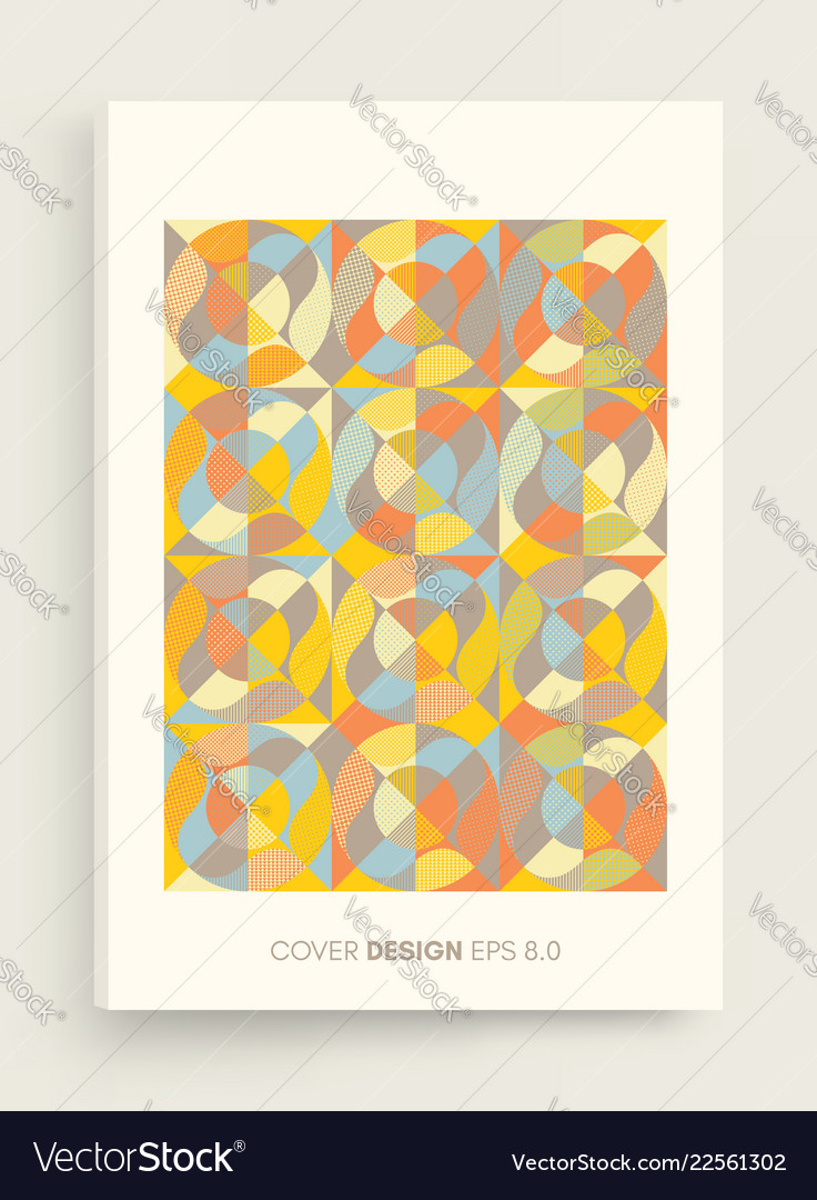 Cover design template abstract colorful design