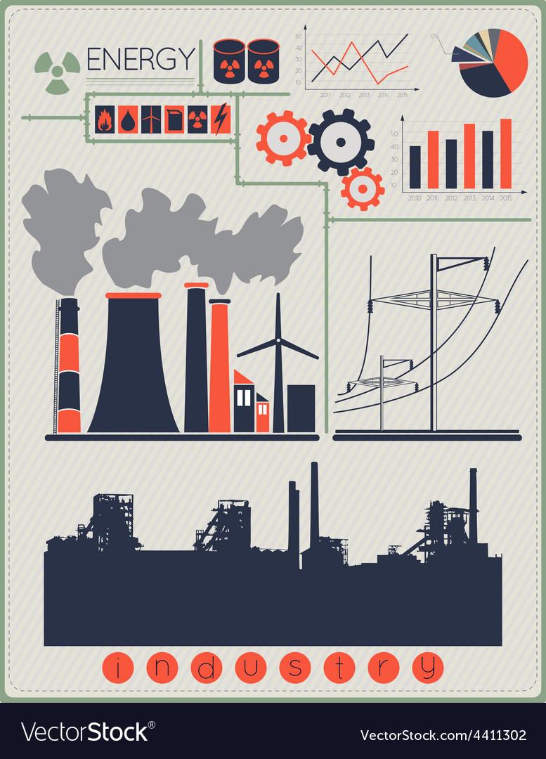 Industrial factory buildings