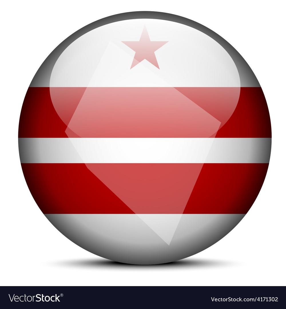 Map on flag on of USA Washington DC Royalty Free Vector Map Usa Washington Dc on